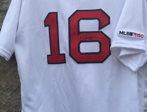 Andrew Benintendi autographed shirt.